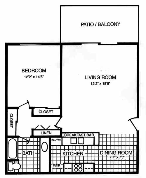 San Carlos 1 Bedroom Apartment Floorplans