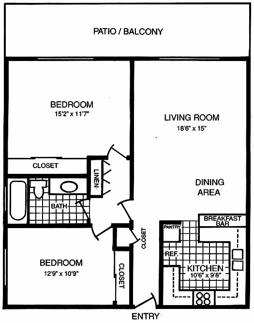 San Carlos 2 Bedroom Floorplans