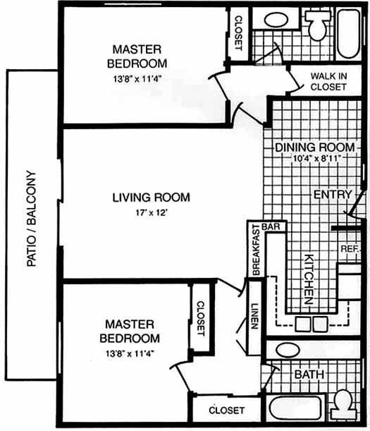 Casa de sol dual master suite floorplans Two master bedroom plans